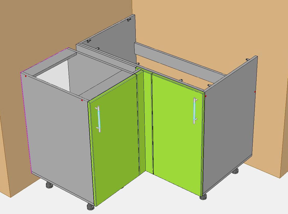 Сделать угловой шкаф на кухню своими руками